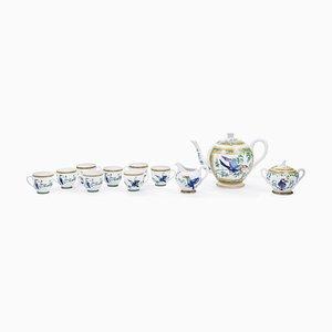 Service à Café Toucan en Porcelaine de Hermès, 1990s