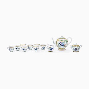 Toucan Porcelain Coffee Service Set from Hermès, 1990s