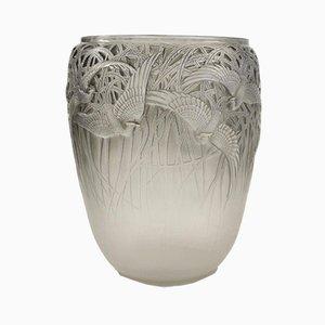 Jarrón Egrets Art Déco de René Lalique, años 30