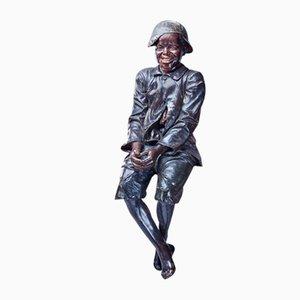 Escultura antigua de terracota de Friedrich Goldscheider