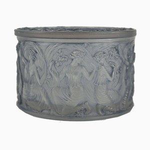 Scatola vintage in vetro decorato di René Lalique