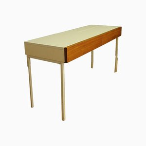 Vintage Glass and Wood Dressing Table from Interlübke, 1960s