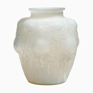 Vintage French Glass Domrémy Vase by René Lalique, 1926