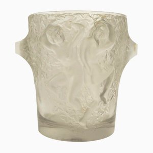 Art Deco French Glass Ganymede Ice Bucket by Marc Lalique, 1930s