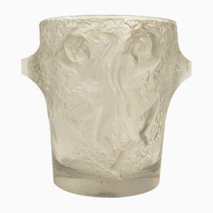 Cubitera francesa Art Déco de vidrio de Marc Lalique, años 30