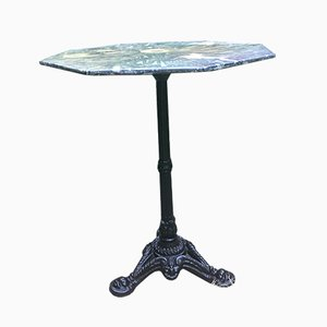 Mid-Century Cast Iron and Marble Bistro Table, 1950s