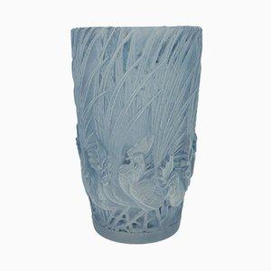 Vaso Art Déco vintage in vetro di René Lalique, Francia, 1928