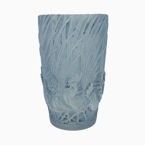 Vintage Art Deco French Glass Vase by René Lalique, 1928