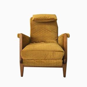 Mid-Century Art Deco Velvet Armchair, 1960s