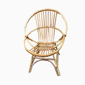 Mid-Century French Rattan Children's Chair, 1960s