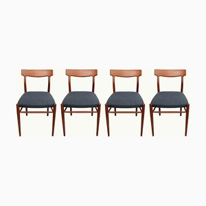 German Teak Dining Chairs from Lübke, 1960s, Set of 4