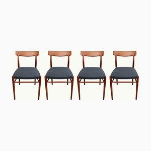 German Teak Dining Chairs from Lübke, 1960s, Set of 4