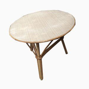 Mid-Century French Rattan Children's Table, 1960s