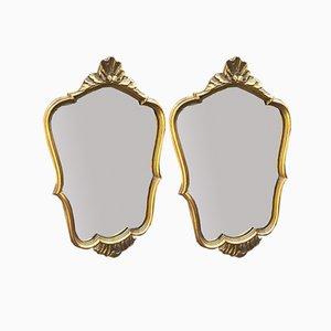 Mid-Century Gilded Mirrors, 1960s, Set of 2