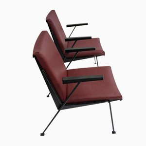 Mid-Century Modernist Oase Armchairs by Wim Rietveld for Ahrend de Cirkel, 1950s, Set of 2