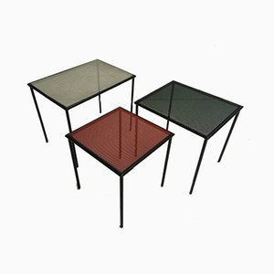 Metal and Paint Nesting Tables by Floris Fiedeldij for Artimeta, 1950s
