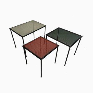 Tavolini a incastro in metallo e vernice di Floris Fiedeldij per Artimeta, anni '50