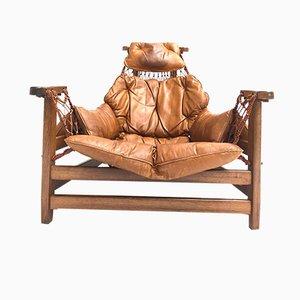 Fauteuil par Jean Gillon pour Italma Wood Art, 1962