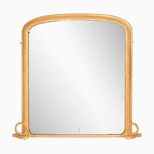 Antiker englischer Spiegel mit vergoldetem Rahmen