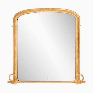 Espejo inglés antiguo dorado