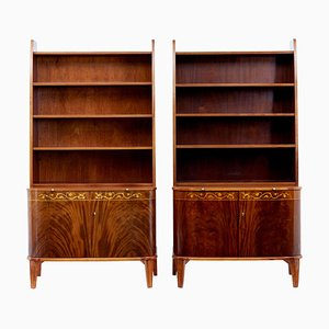 Modernist Mahogany Cabinets from Bodafors, 1950s, Set of 2