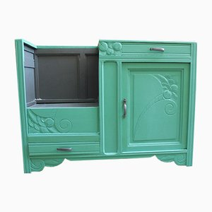 Mid-Century Art Deco French Ash Cabinet, 1940s
