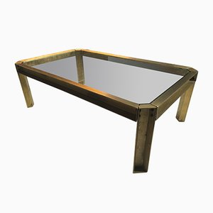 Modernist Bronze Casted Coffee Table by Peter Ghyczy, 1970s