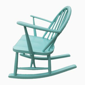 Teal Beech and Elm Children's Chair by Lucian Ercolani for Ercol, 1960s