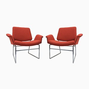Double Shell Lounge Chairs by Illum Wikkelsø for Arflex, 1962, Set of 2
