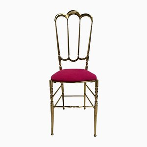 Italian Brass Chiavari Chair, 1960s