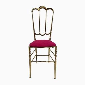 Italienischer Chiavari Stuhl aus Messing, 1960er