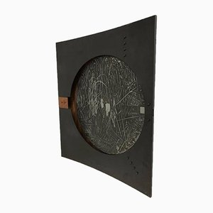 Italian Copper, Enamel, and Steel Wall Light by Nerone & Patuzzi, 1970s