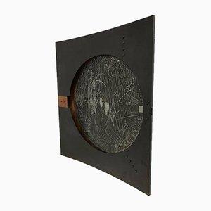 Italienische Wandlampe aus Kupfer & emailliertem Stahl von Nerone & Patuzzi, 1970er