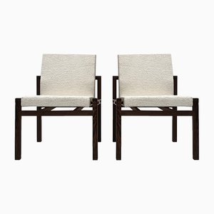 Wool and Wenge Lounge Chairs from 't Spectrum, 1960s, Set of 2