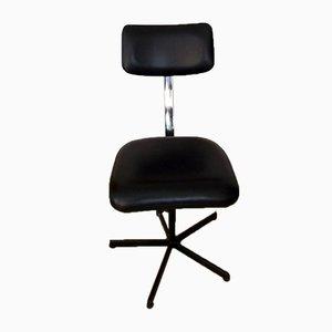 Industrial Metal and Vinyl Desk Chair from Biddulph Industries, 1960s