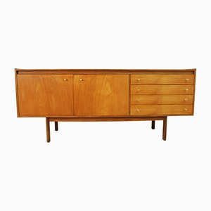 Mid-Century Brass and Teak Sideboard, 1960s