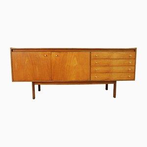 Mid-Century Brass and Teak Sideboard, 1960s