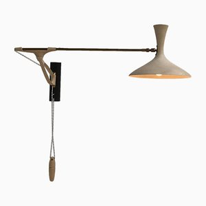 German Swing-Arm Counterbalance Wall Light from Cosack Leuchten, 1950s