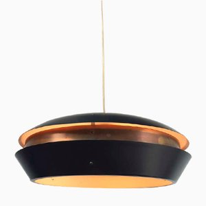 Brass and Metal Evolux Ceiling Lamp from Hiemstra Evolux, 1960s