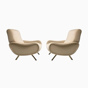 Italian Lady Lounge Chairs by Marco Zanuso for Arflex, 1951, Set of 2