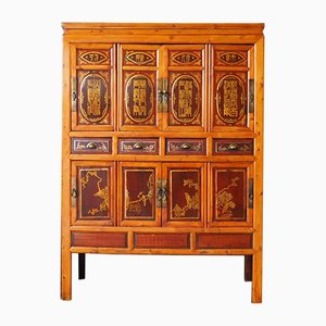 Antique Hand-Crafted Chinese Oak Wedding Cabinet