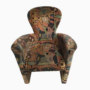 Butaca Amphora posmoderna de terciopelo de Frans Schrofer & Clemens Briels para Leolux, años 90