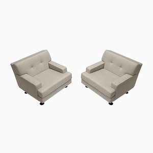 Italian Square Lounge Chairs by Marco Zanuso for Arflex, 1962, Set of 2