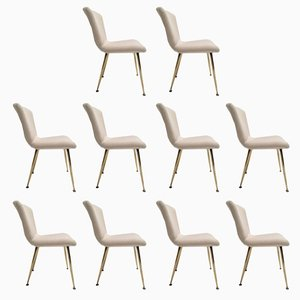 Italian Dining Chairs by Louis Sognot for Arflex, 1959, Set of 10