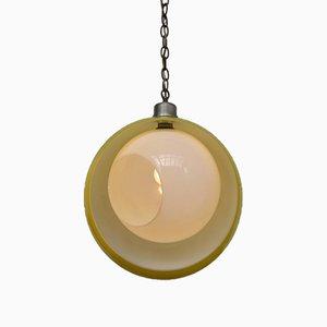 Lámpara de techo Eclisse italiana de cristal de Murano de Carlo Nason para Mazzega, años 60