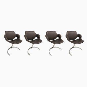 Chaises Scimitar par Boris Tabacoff pour MMM, France, 1960s, Set de 4