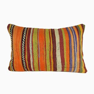 Vintage Handwoven Kilim Lumbar Pillow Cover