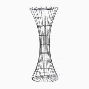 Skulpturale Garderobe aus verchromtem Stahl von Verner Panton für Luber, 1959