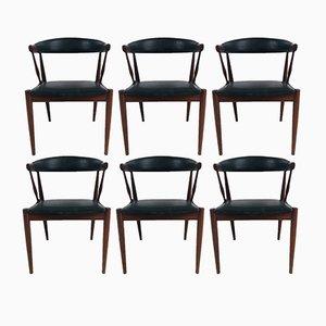 Chaises de Salle à Manger en Teck par Johannes Andersen pour Andersen Møbelfabrik, Danemark, 1963, Set de 6