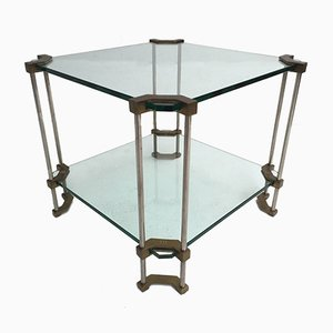 German Brass & Glass Noble House 2-Tier Side Table by Peter Ghyczy, 1980s